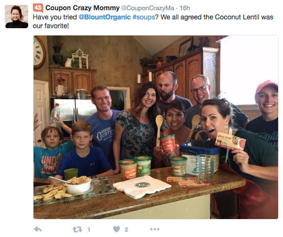 Tweet from Coupon Crazy Mommy