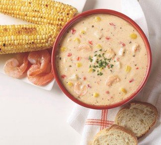 Shrimp & Roasted Corn Chowder