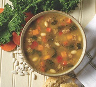 Turkey Sausage & Kale Soup